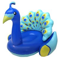 Swimline Giant Inflatable Peacock Swimming Pool Float with Backrest