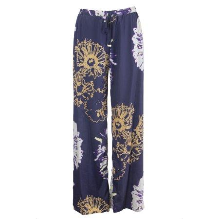 Atina Cristina Women's Floral Print Wide Leg Trousers T1002AD04 Sz Small