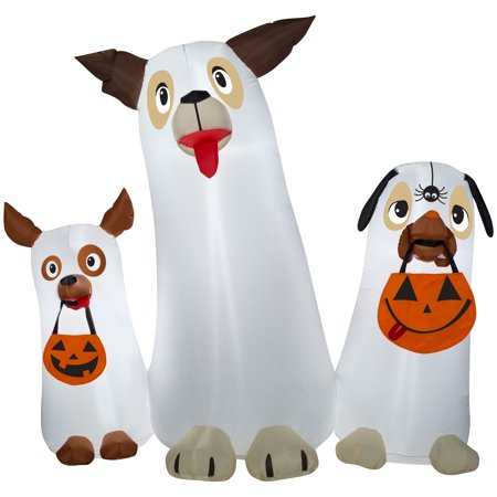 Halloween Airblown Inflatable 5ft. Ghost Dogs Trio Scene by Gemmy Industries](Halloween Inflatable Ghost)