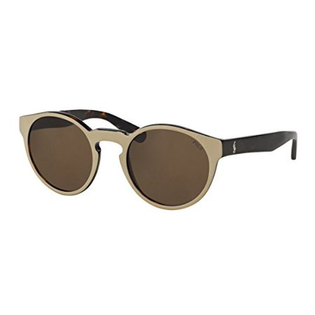 Sunglasses Polo PH 4101 556473 TOP BEIGE ON DARK -