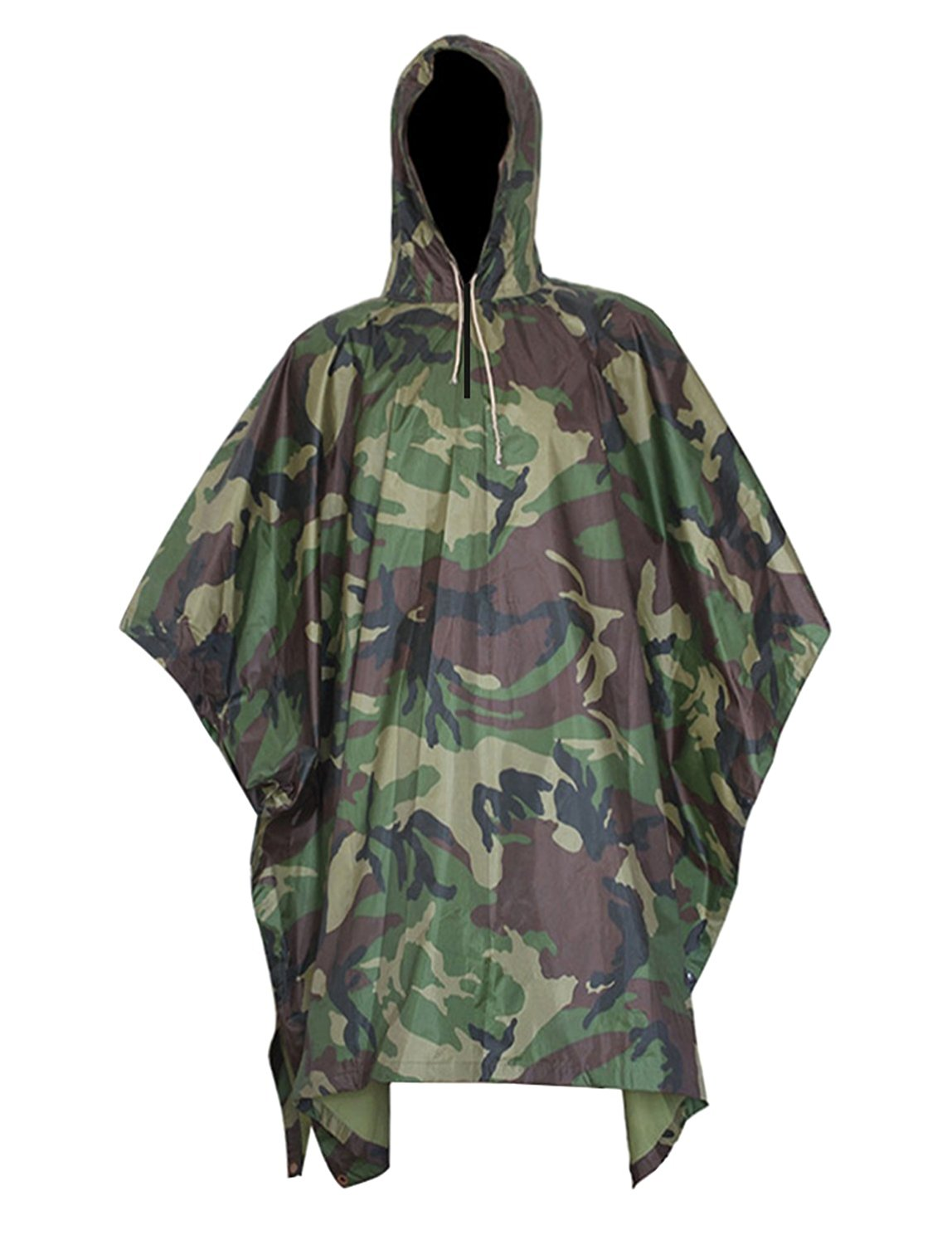 HOWON Military Multifunction Realtree Camouflage Waterproof Rain Poncho For Adults(Gift Emergency Blanket) by