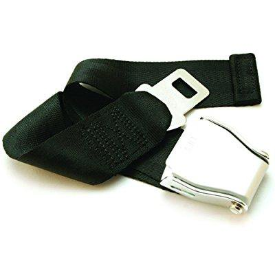 E4 Safety Certified Adjustable 7 24 Airplane Seatbelt Extender   Fits All Airlines Except Southwest   Free Velour Pouch