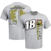 Kyle Busch Joe Gibbs Racing Team Collection 2020 Schedule T-Shirt - Gray