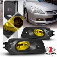product image yellow fog light bumper lamp w/switch+harness+bezel for 06-07