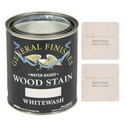 General Finishes Water Based Wood Whitewash Stain, Quart