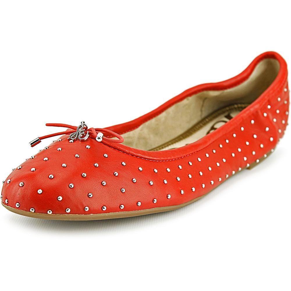 Sam Edelman Frankie Women  Round Toe Leather Red Flats