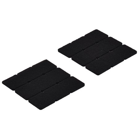 Unique Bargains 27 Pcs Felt Square 22mm x 22mm Self-adhesive Chair Foot Cover Table Furniture Leg Protector Black (Felt Top Table)