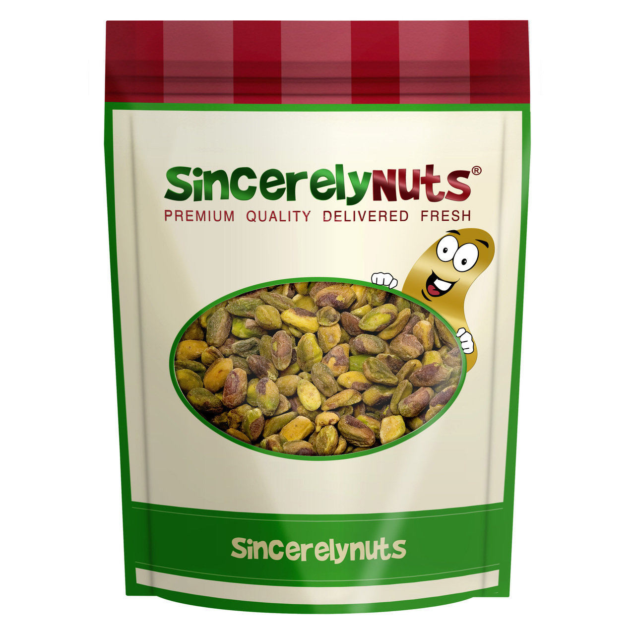Sincerely Nuts Pistachio Kernels Roasted Salted, 1 LB Bag
