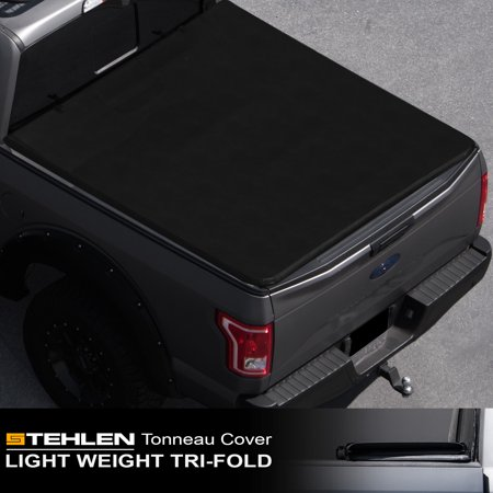 - Stehlen 714937189645 Lightweight Hard Tri-Fold Style Truck Bed Tonneau Cover For 05-15 Toyota Tacoma Double ( Crew ) Cab 5 Feet 60