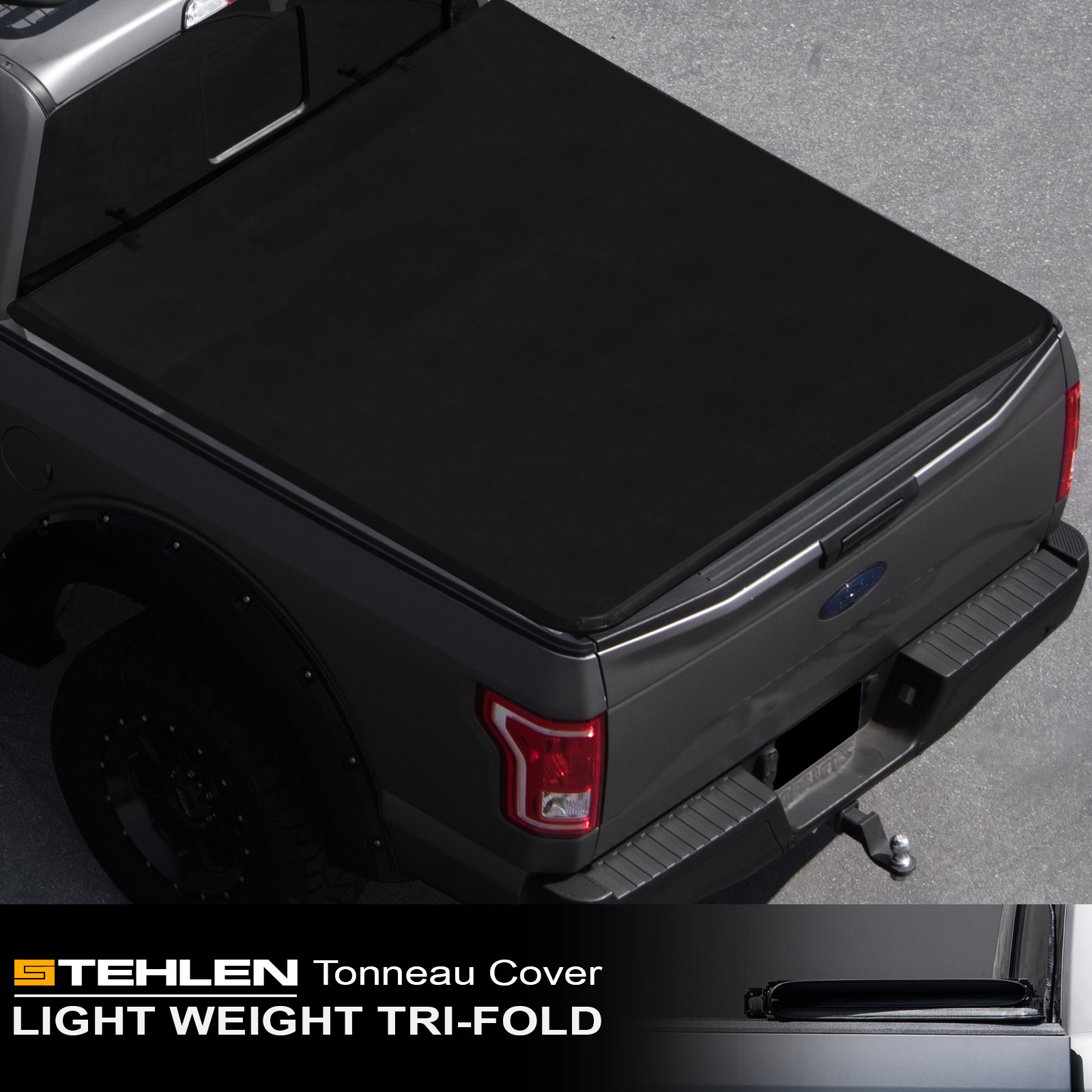 "Stehlen 714937189645 Lightweight Hard Tri-Fold Style Truck Bed Tonneau Cover For 05-15 Toyota Tacoma Double ( Crew ) Cab 5 Feet 60"" Short Bed"