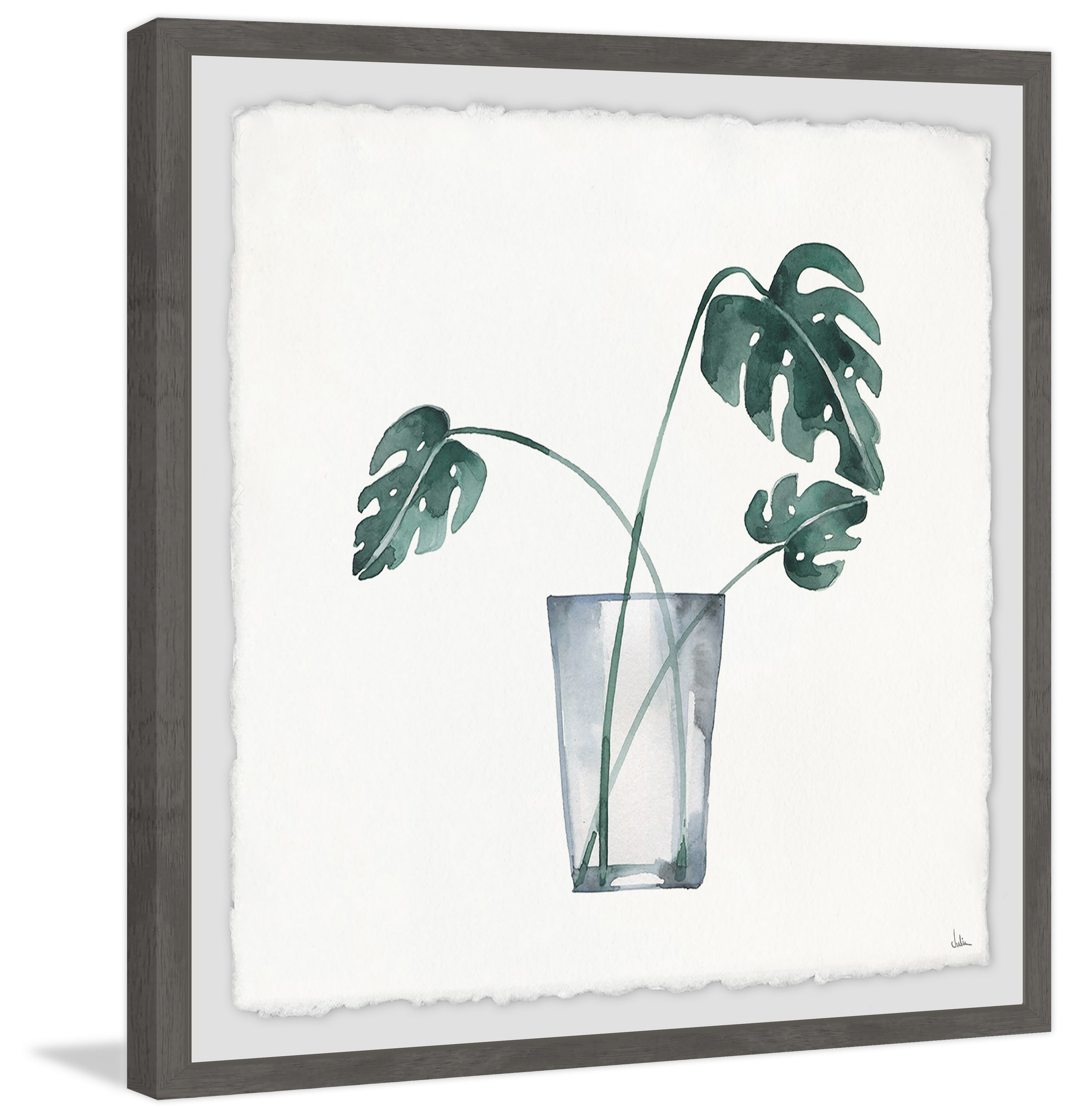 Tropics in a Vase Framed Painting Print