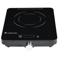 Avalon Bay Portable Ceramic Deluxe Countertop Induction Cooktop Burner, Black