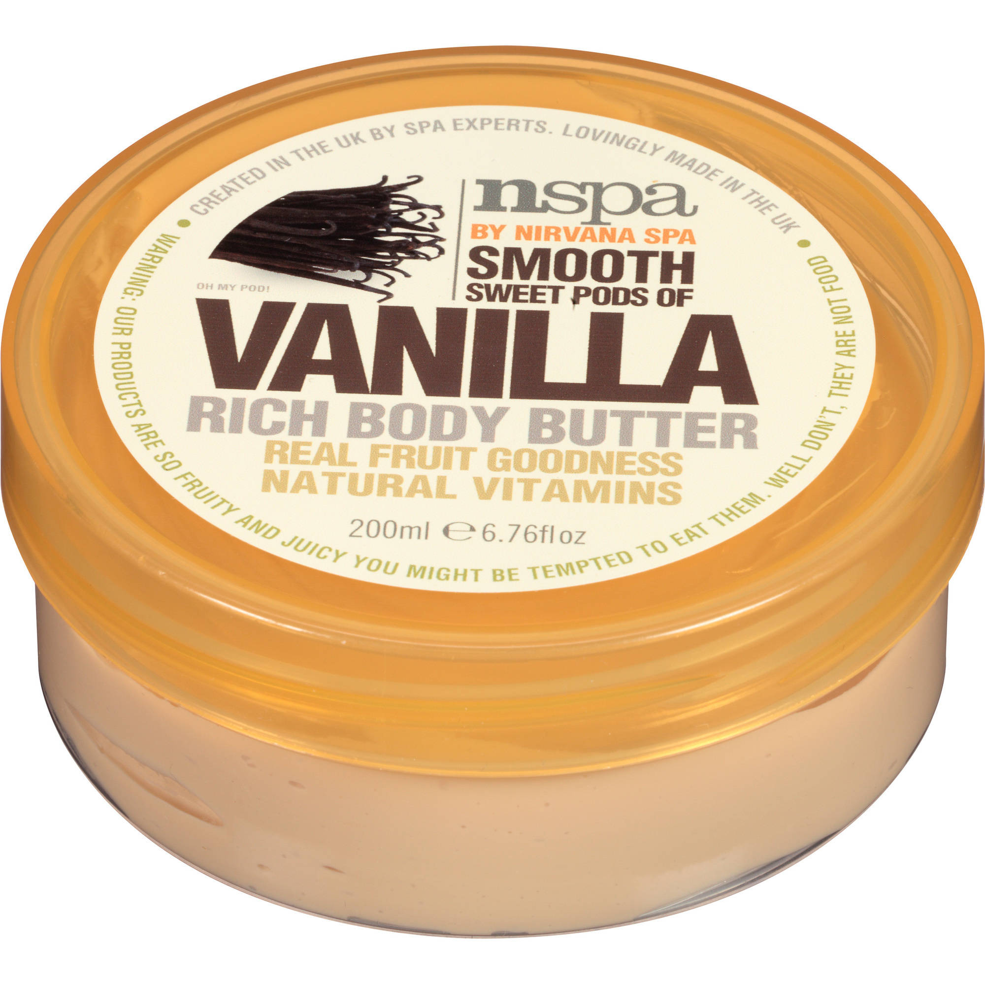 NSPA Smooth Sweet Pods of Vanilla Rich Body Butter, 6.76 fl oz