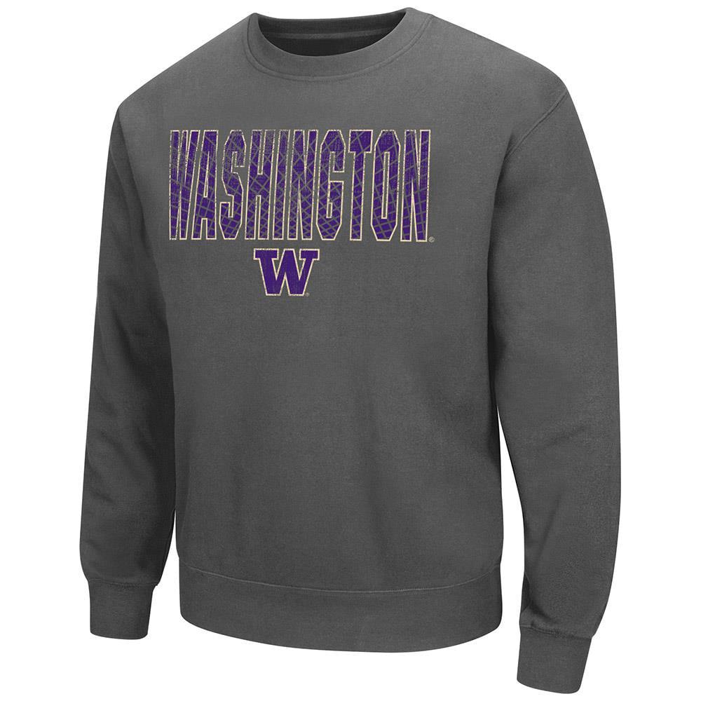 Mens Washington Huskies Crew Neck Sweatshirt - M