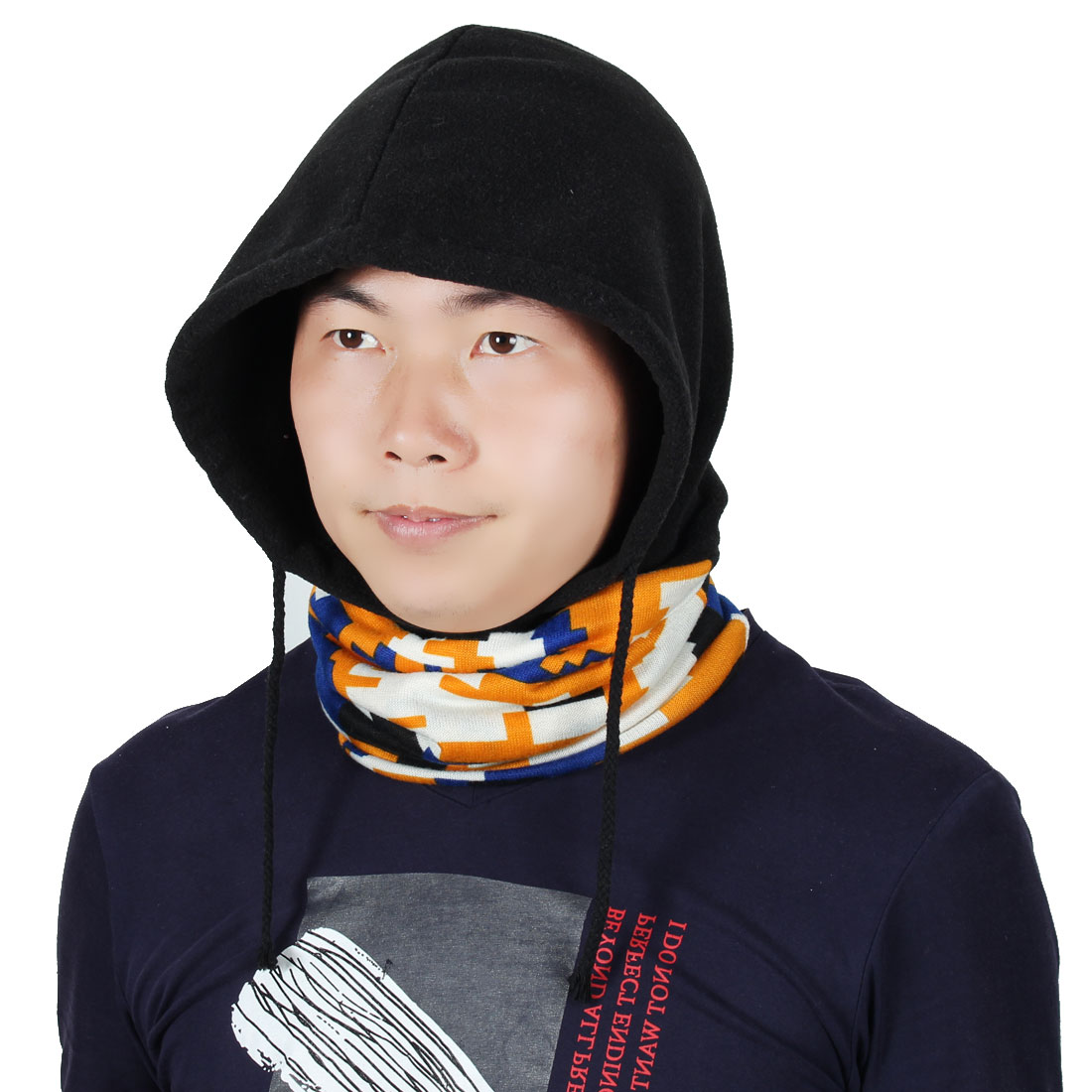 Fleece Adjustable Rope Motorcycling Head Wrap Neck Warmer Protector Balaclava by Unique-Bargains