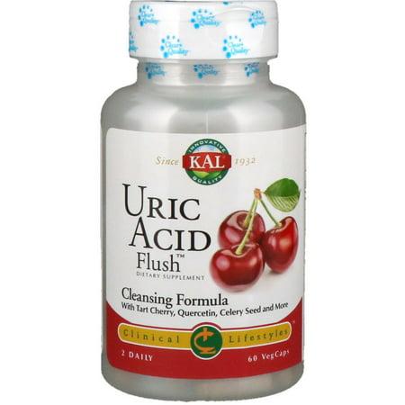 KAL Uric Acid Flush | Tart Cherry Blend, Celery Seed & More for Healthy Joint Comfort Support | 30 Servings | 60 VegCaps Joint Formula Tart Cherry