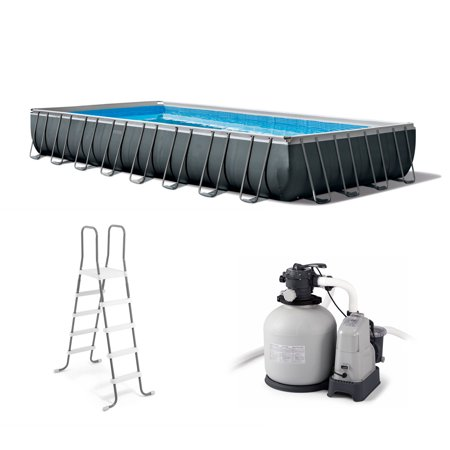 Intex 32 Ft x 16 Ft x 52 Inch Ultra XTR Rectangular Swimming Pool Set with Pump