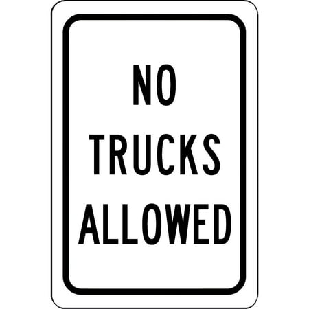 No Trucks Allowed Sign Safety And Street Safety Notice