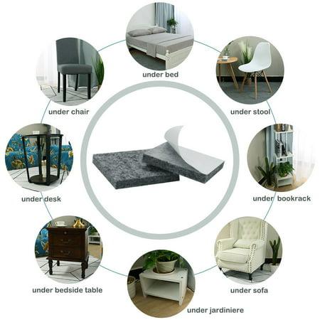 "Felt Furniture Pads 1 1/2"" Self Adhesive Anti-scratch Table Leg Protector 12pcs - image 4 de 7"