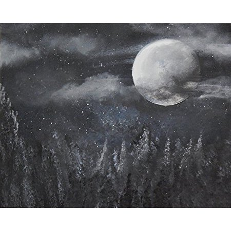 Night Moves by Ed Capeau 16x12 Art Print Poster   Full Moon Luna Night Scene Stars Sky POD (Ed Wood Halloween Scene)