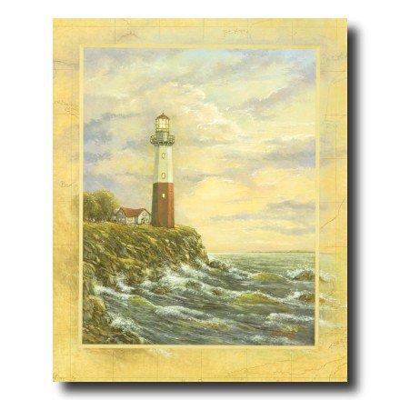Ocean Lake Lighthouse Beach Wall Picture Art Print