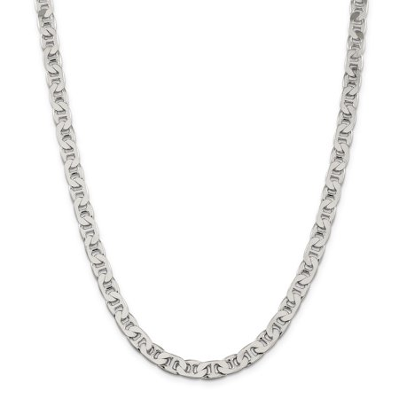 925 Sterling Silver 6.5mm Anchor Chain 22 Inch - image 5 de 5