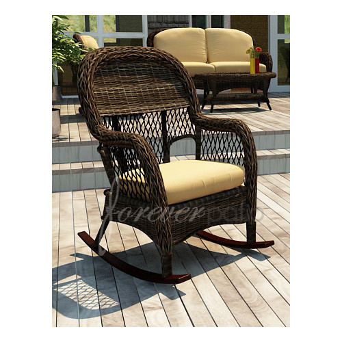 Forever Patio Leona Rocking Chair with Cushion