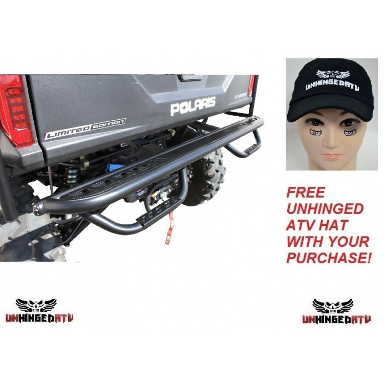 Dragonfire Racing Rear Step Bumper - Fits: Ranger XP 1000 Crew 2017
