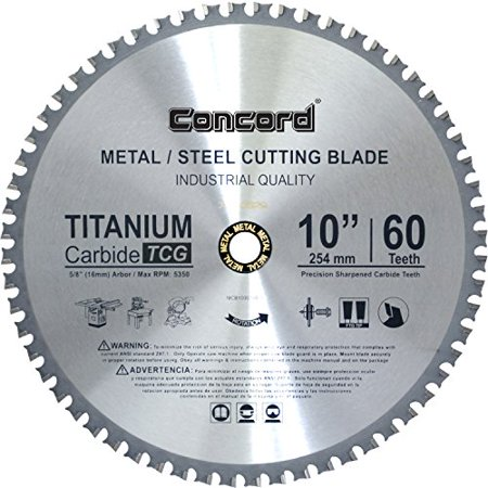 TCT Ferrous Metal Cutting Blade for Cutting Steel, Metal Rods - 10-Inch 60 (Tct Chisels)