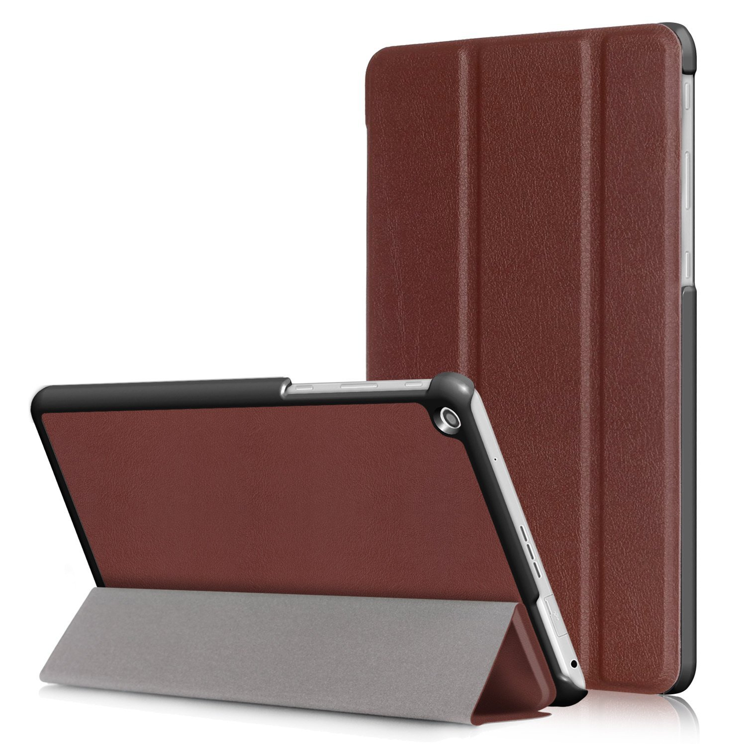 """LG G PAD 3 10.1 X760 Case, Goodest Ultra Slim Tri-Fold Magnetic PU Leather Stand Cover Hard Protector Shell Case for LG G PAD 3 10.1 X760 10.1"""" Tablet, Brown"""