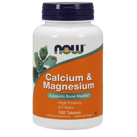 Calcium & Magnesium (500mg/250mg) Now Foods 100 Tabs