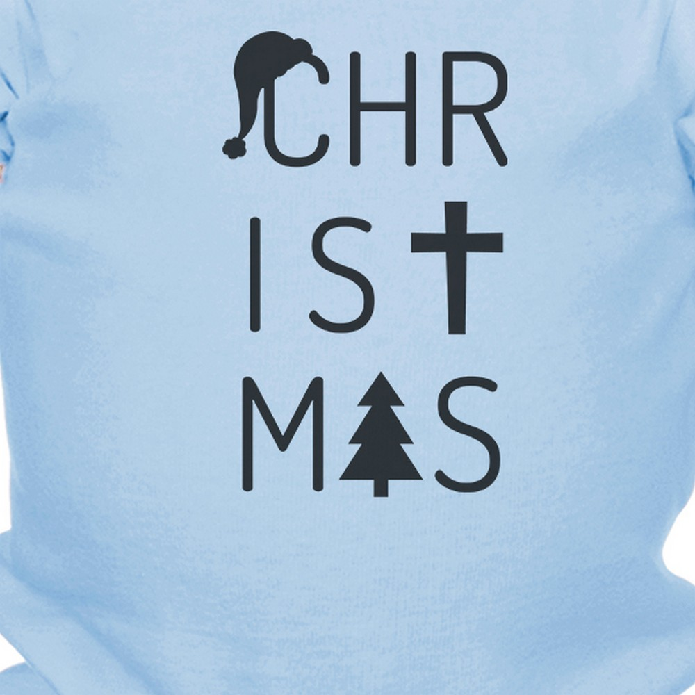 Cute Christmas Theme Baby Bodysuit Pre-Shrunk Cotton Snap-On Style
