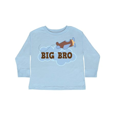 Big Bro Boys Airplane Brother Announcement Toddler Long Sleeve - Airplane Announcement