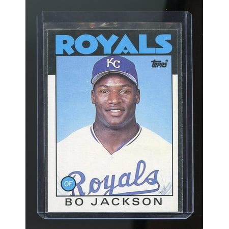 1986 Topps Traded 50t Bo Jackson Kansas City Royals Rookie Card