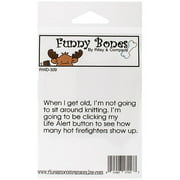 "Riley & Company  Funny Bones Cling Stamp 3.25""X1.25""-Life Alert Button"