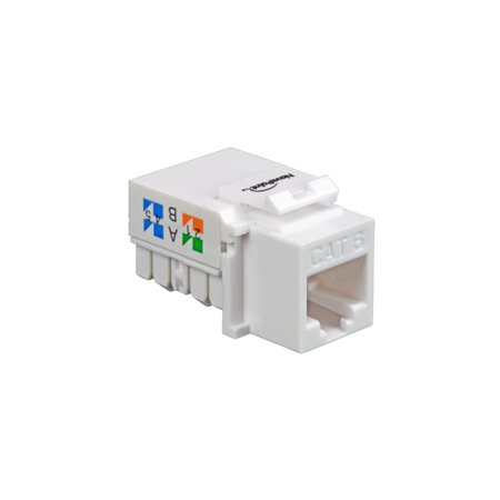 NavePoint CAT6 Ethernet Keystone Adapter Right Angle -