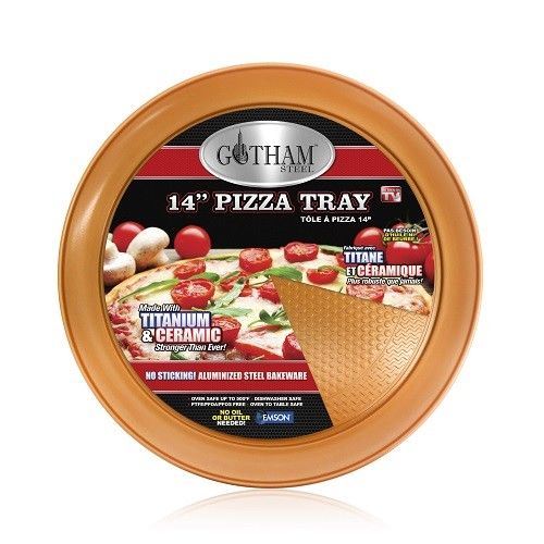 "Gotham Steel Titanium and Ceramic Non-stick 14"" Pizza Pan – Copper, As Seen on TV!"