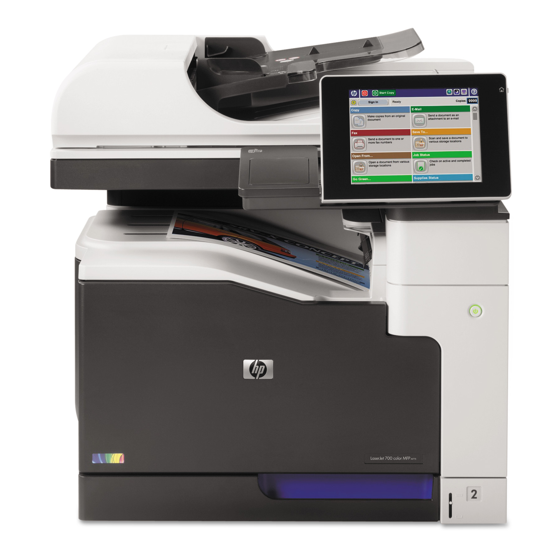 HP LaserJet Enterprise 700 Color MFP M775dn Laser Printer, Copy Print Scan by HP