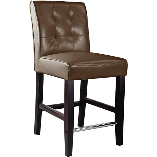 CorLiving Antonio Counter Height Barstool in Bonded Leather