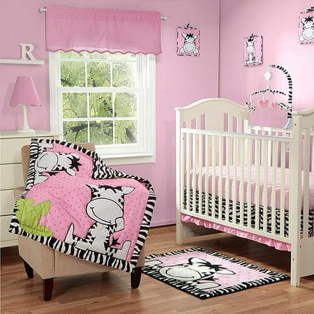Baby Boom I Luv Zebra 3pc Crib Bedding Set, Pink - Walmart.com