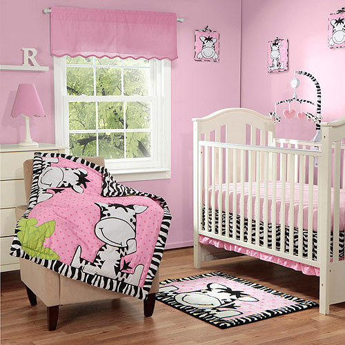 Baby Boom I Luv Zebra 3pc Crib Bedding Set, Pink