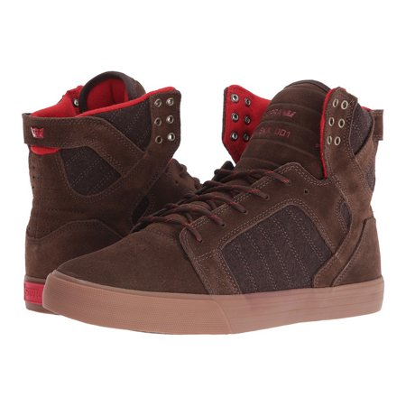 6953882645c3 Supra - SUPRA Mens Skytop Shoes Brown-Gum (10-Men) - Walmart.com