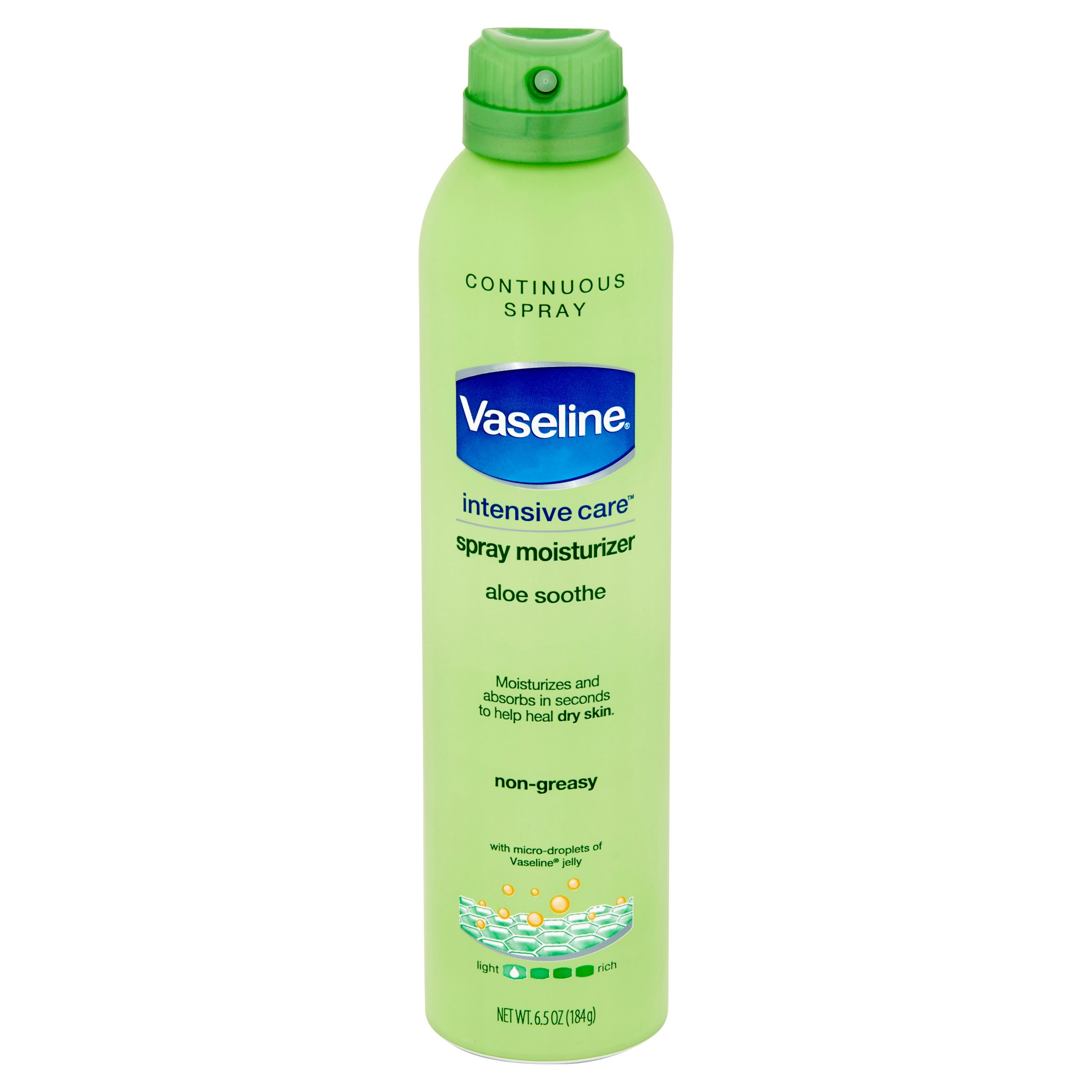 Vaseline Intensive Care Spray Lotion Aloe Soothe 6.5 oz