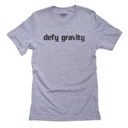 Simple Defy Gravity Sky Diving Bungee Extreme Sports Men's Grey T-Shirt
