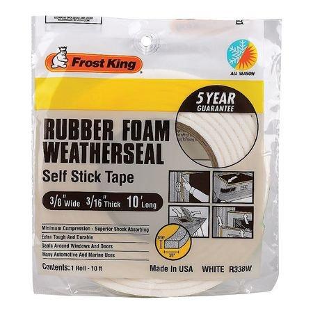 Frost King R338wh Sponge Rubber Foam Tape 3 8In X10 Ft