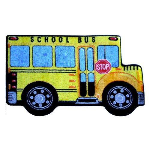 L.A. Rugs School Bus Kids Area Rug