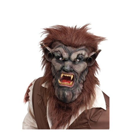 Wolf Man Mask - Brown - Brown Wolf Mask