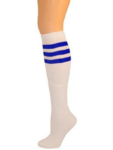 Classic Old School white Striped Tube Socks