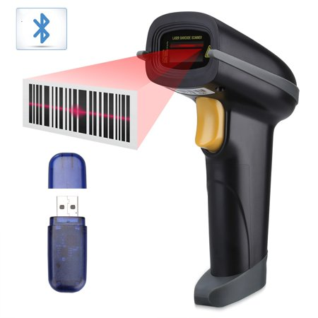 SLYPNOS Handheld Wireless Barcode Scanner, Rechargeable Bluetooth & 2 4Ghz  Wireless & USB Wired Barcode Reader (Up to 100m receive range)