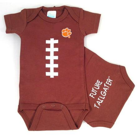 Clemson Tiger Baby Football - Tigger Onesie